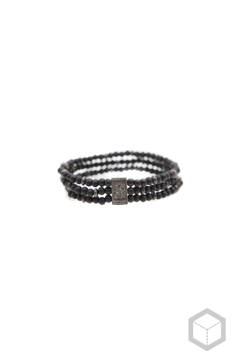 Icon Brand Triple Bead Bracelet