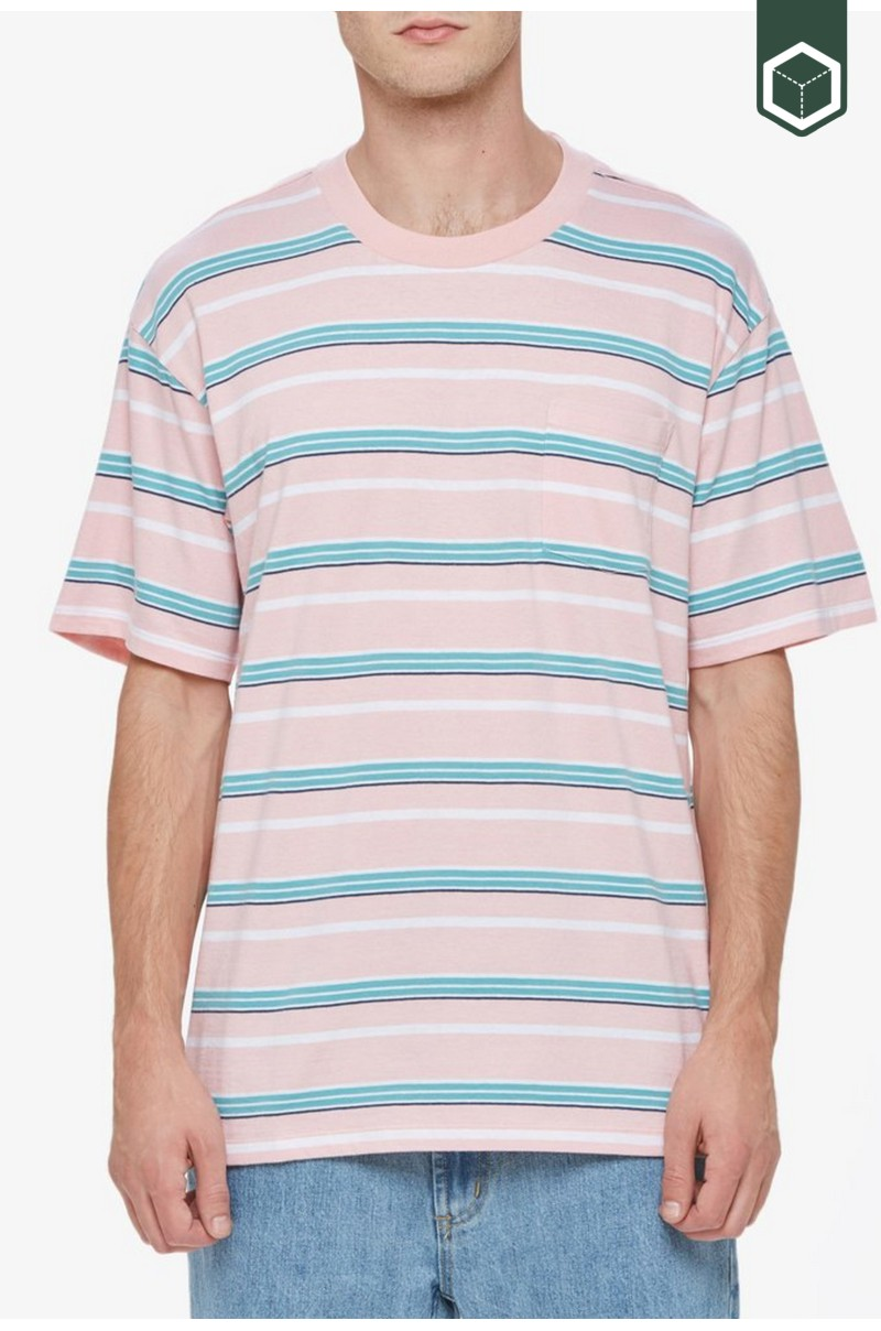 Obey Belford Stripe Box Pocket Tee