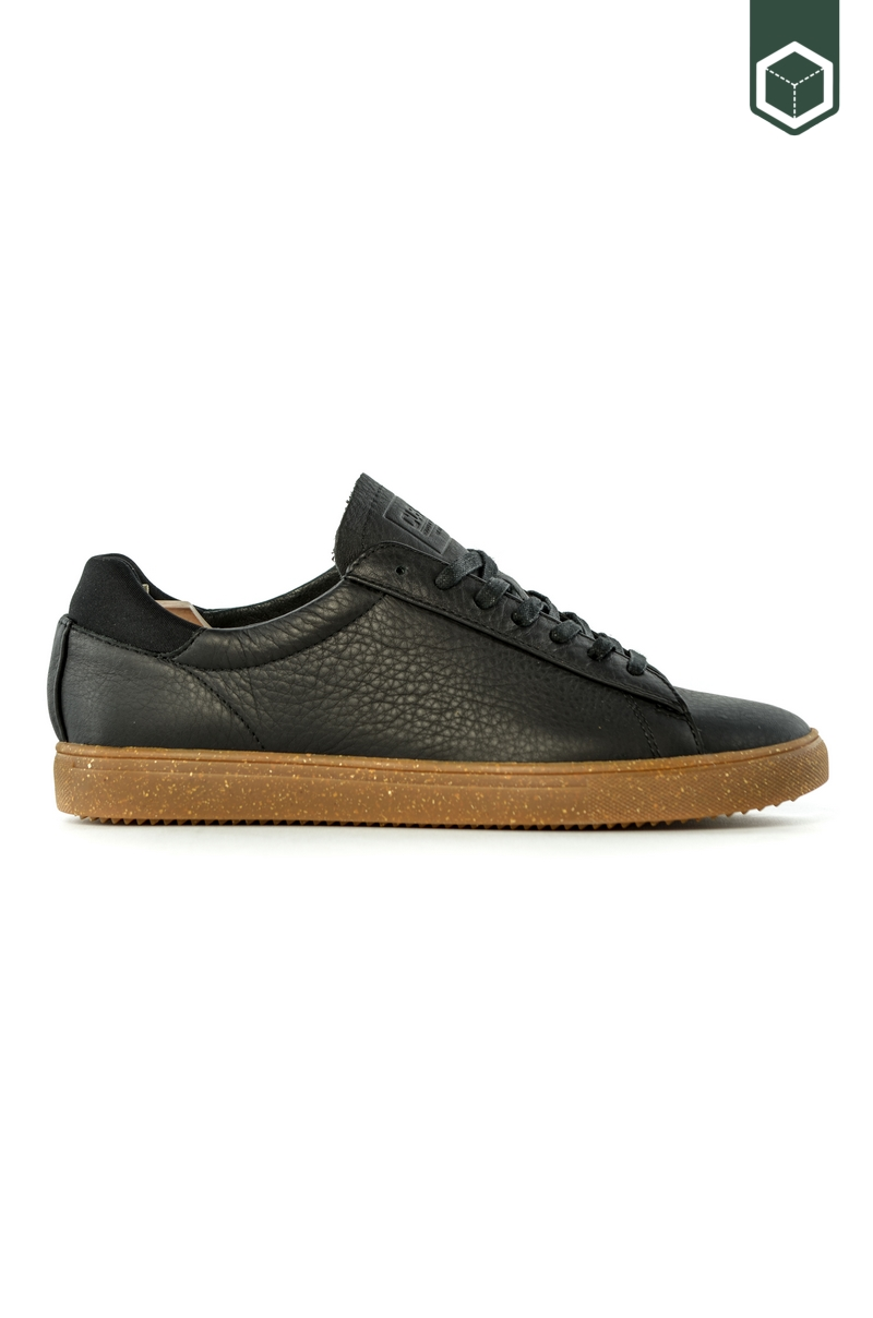 Black Tumbled Leather Gum