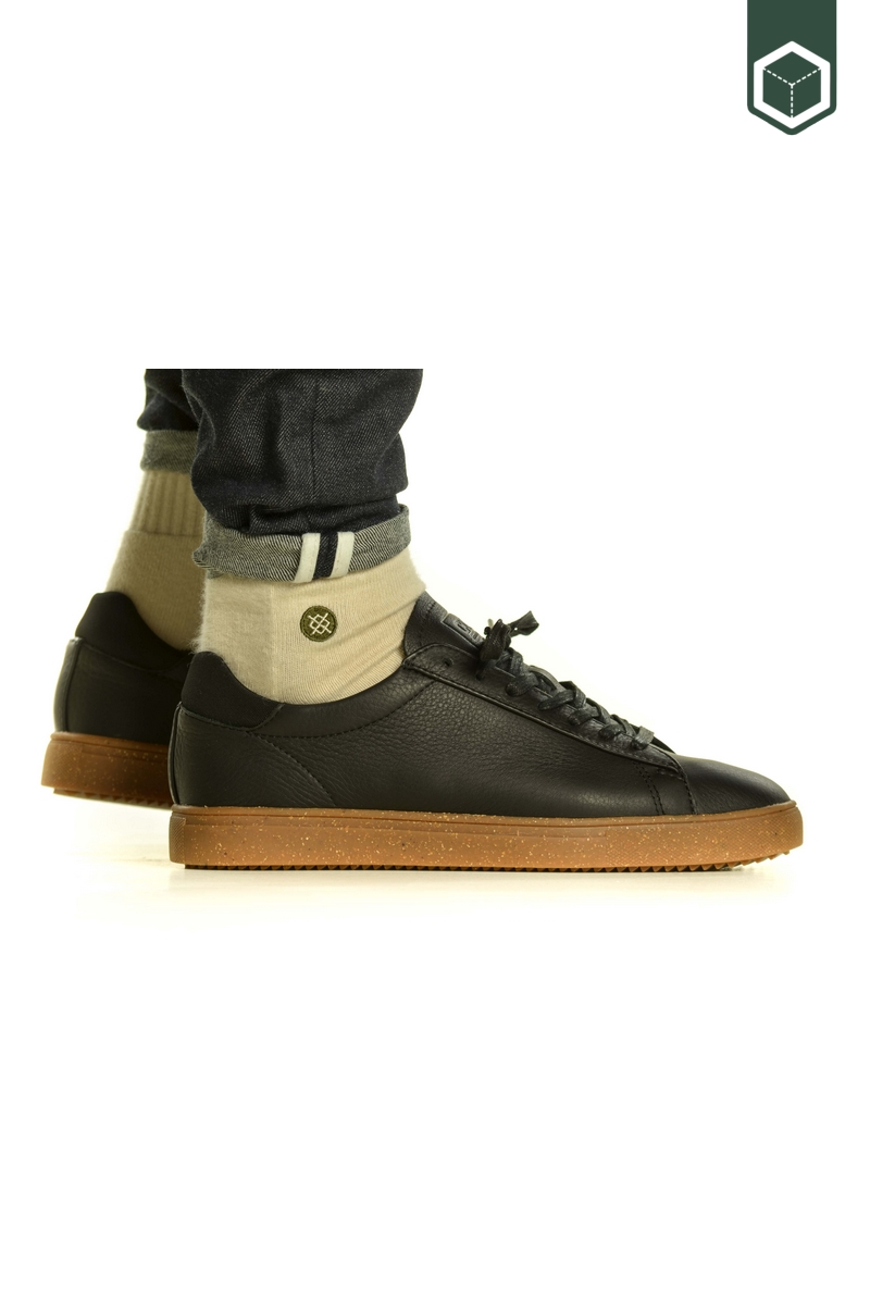 Clae Bradley Limited Edition Black Tumbled Leather Gum