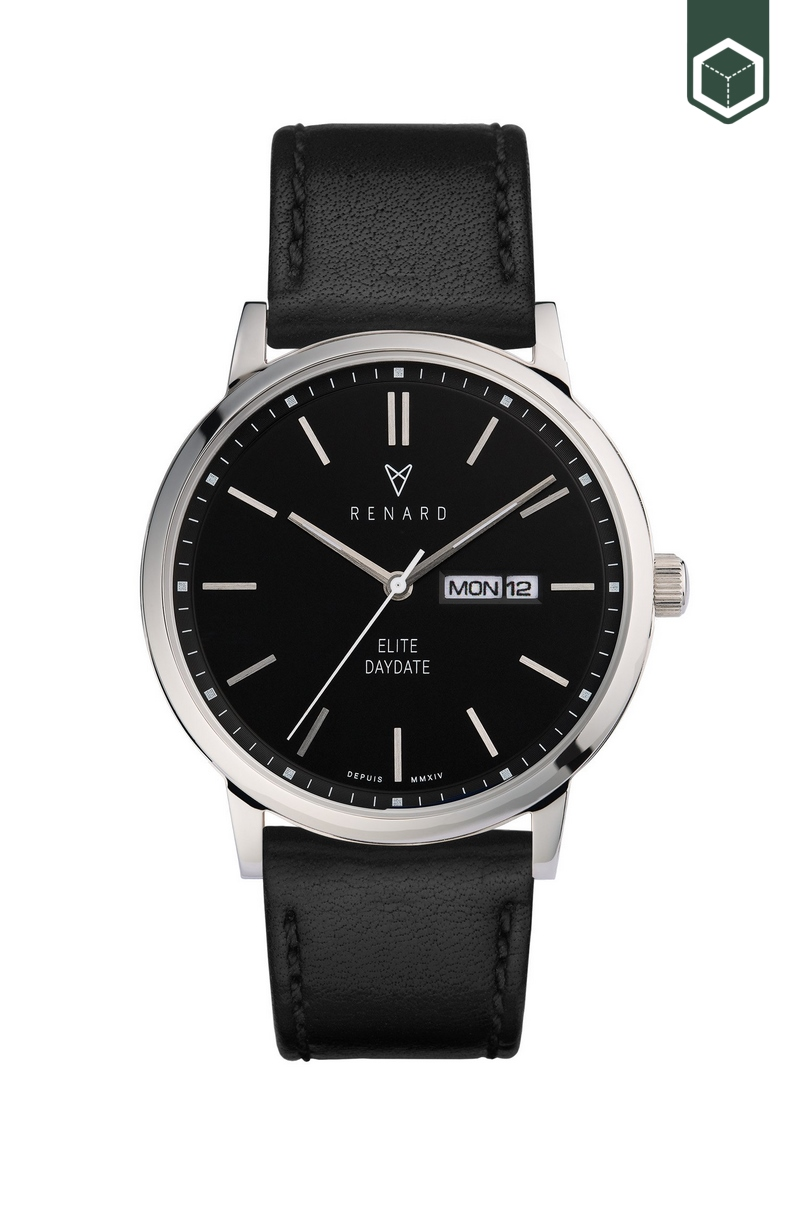 Renard Elite Day Date Black Black