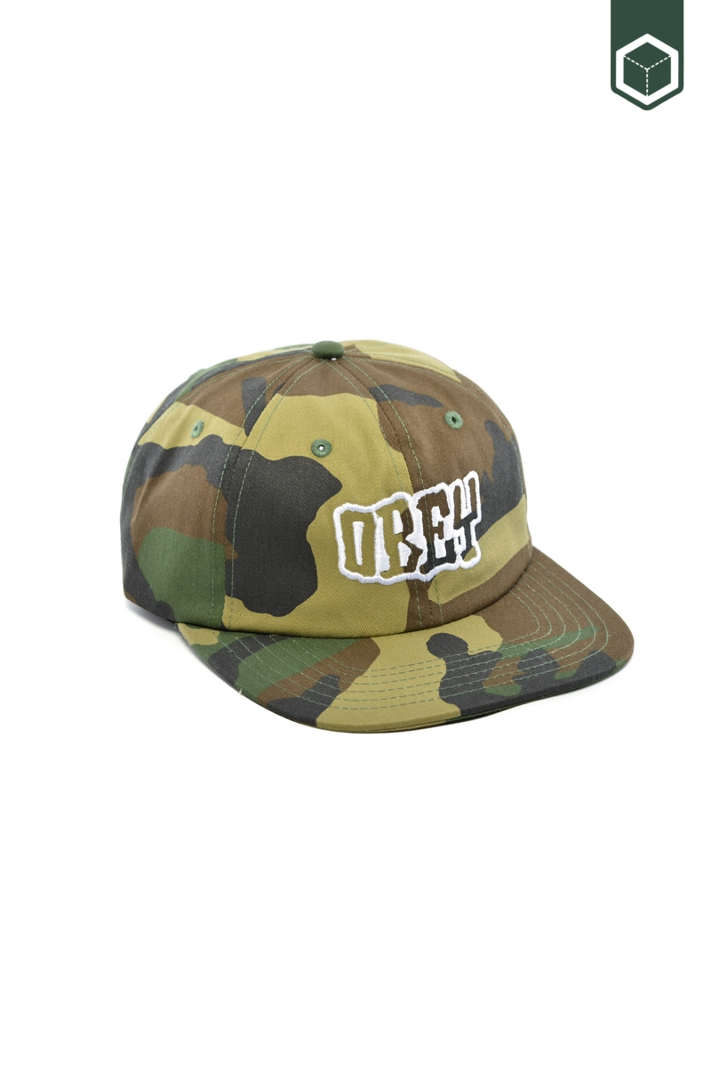 Obey Runnin 6 Panel Hat
