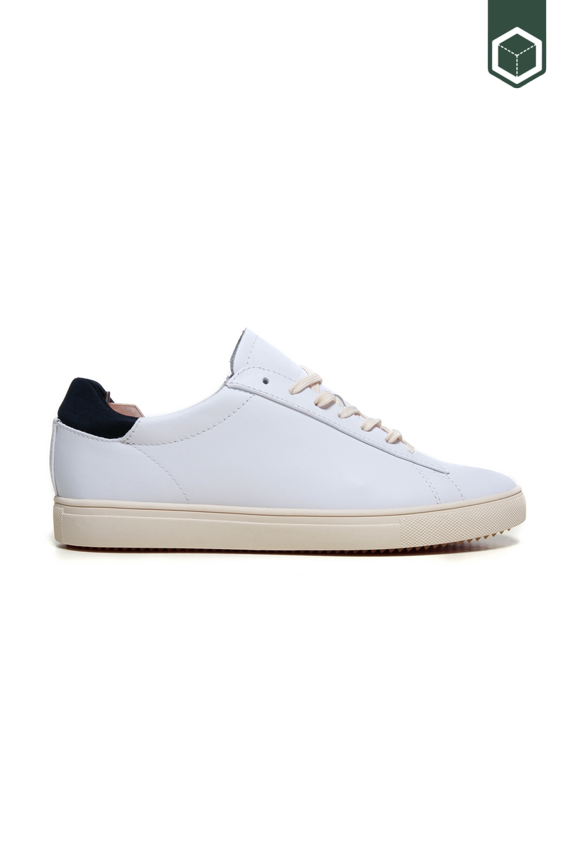 Clae Bradley White Leather