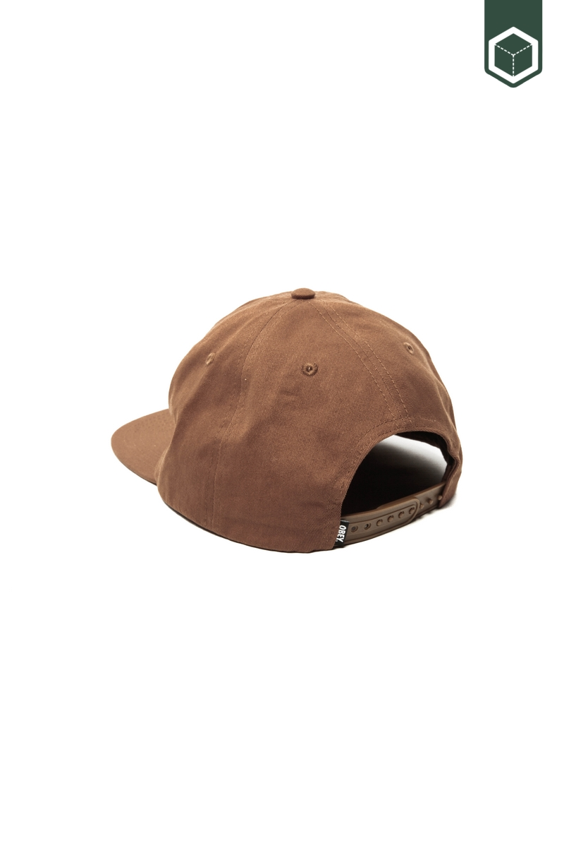 Obey Lynwood 6 Panel Snapback Brown