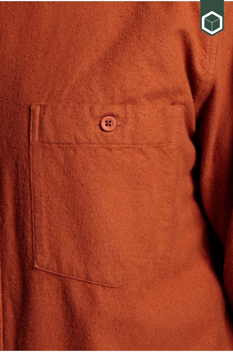 Klitmoller Collective Benjamin L/S Shirt Flannel Rust