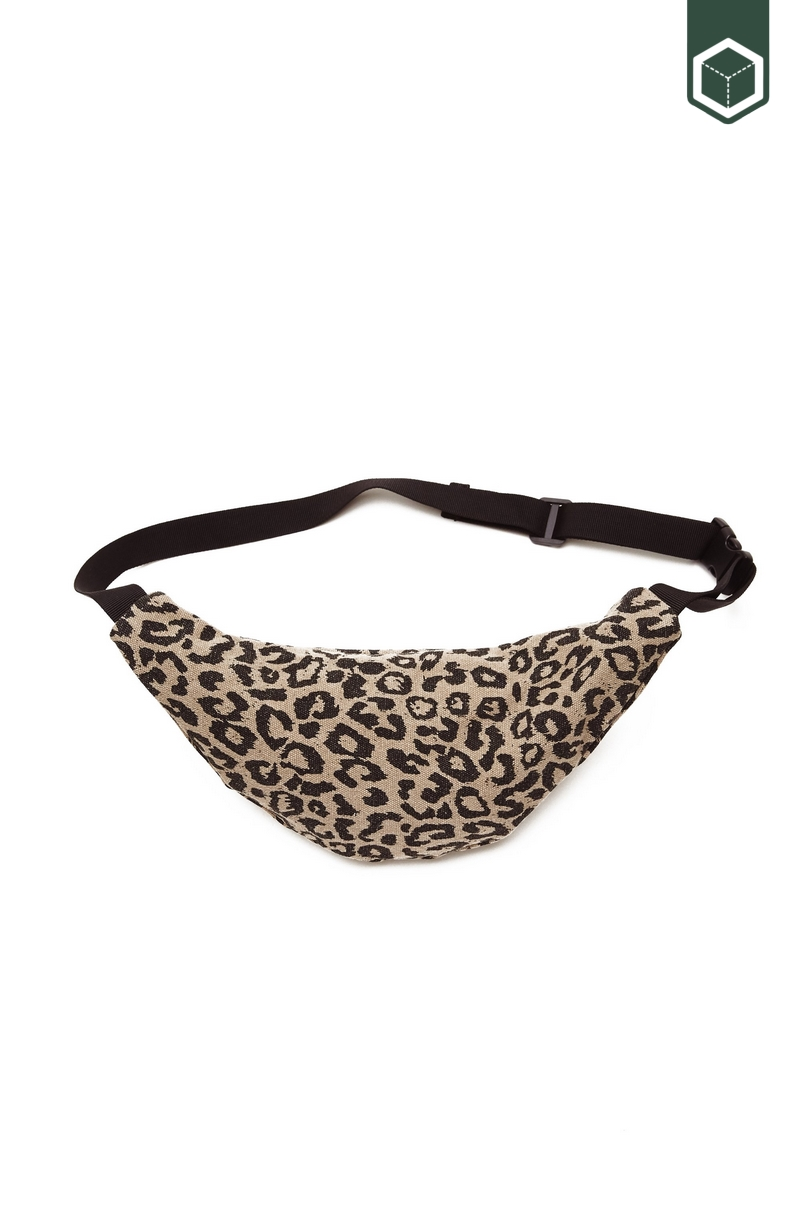 Obey Wasted Hip Bag Leopard Khaki