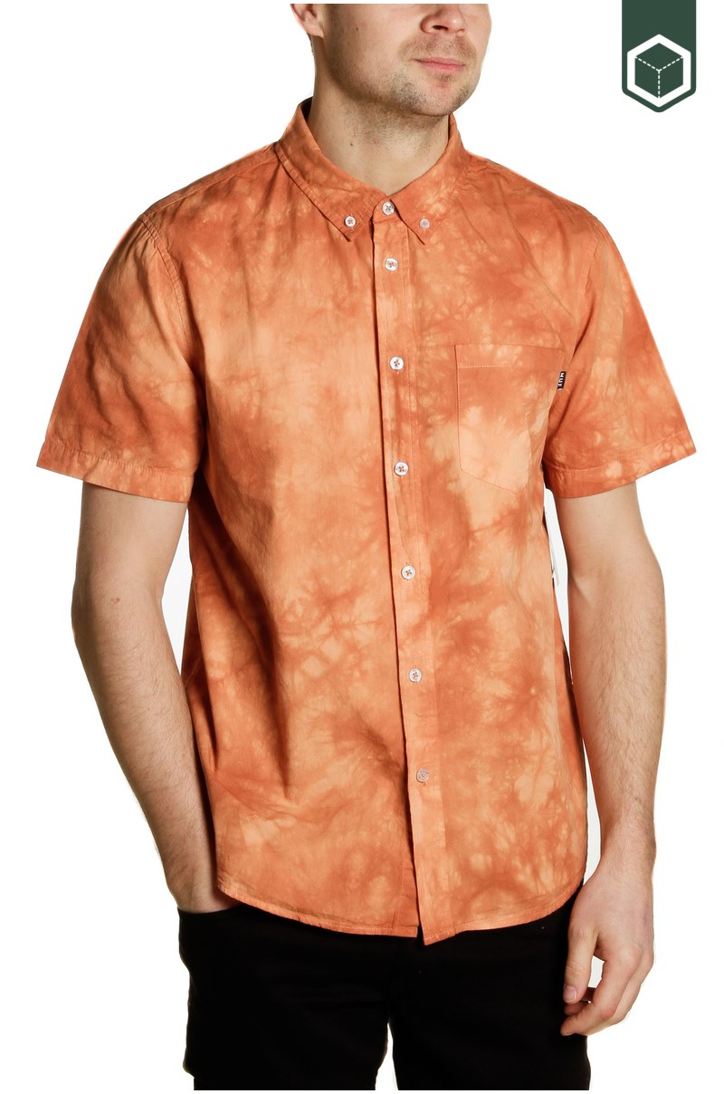 Huf Bowery S/S Woven Canyon Sunset