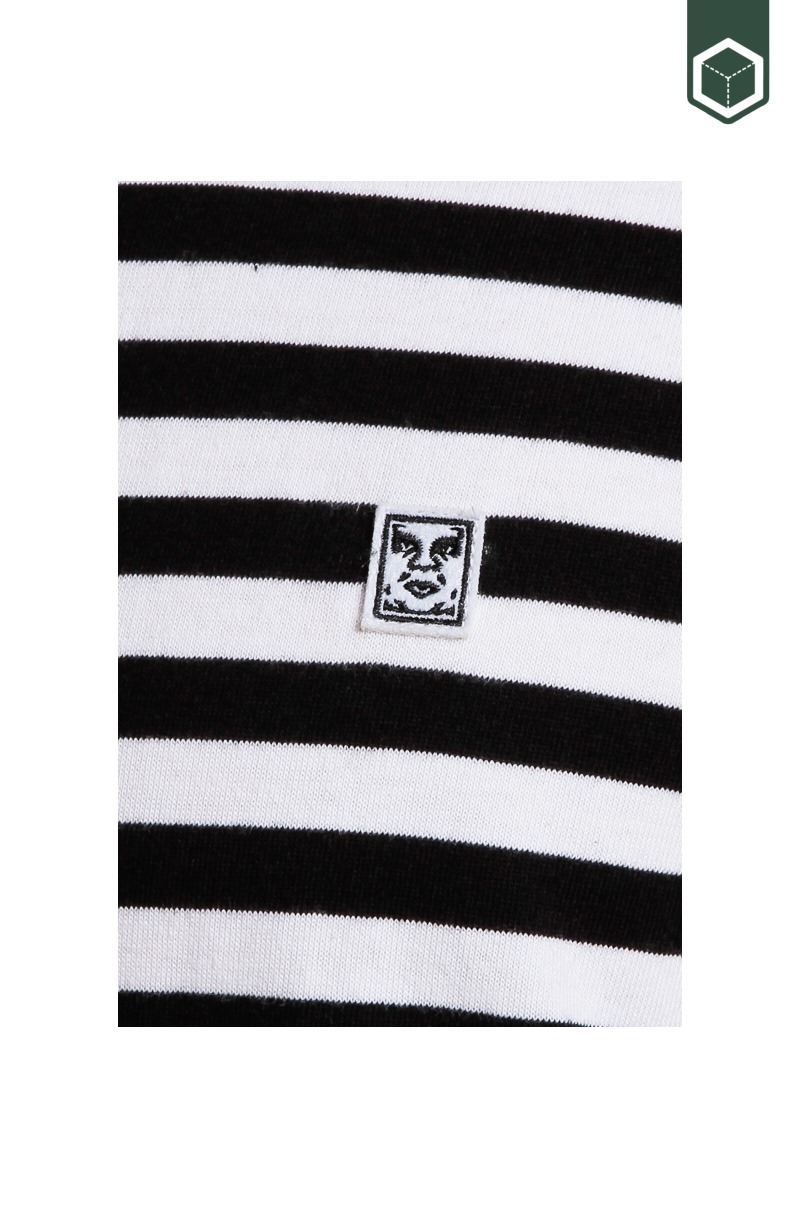 Obey 89 Icon Stripe Box II SS Black Multi