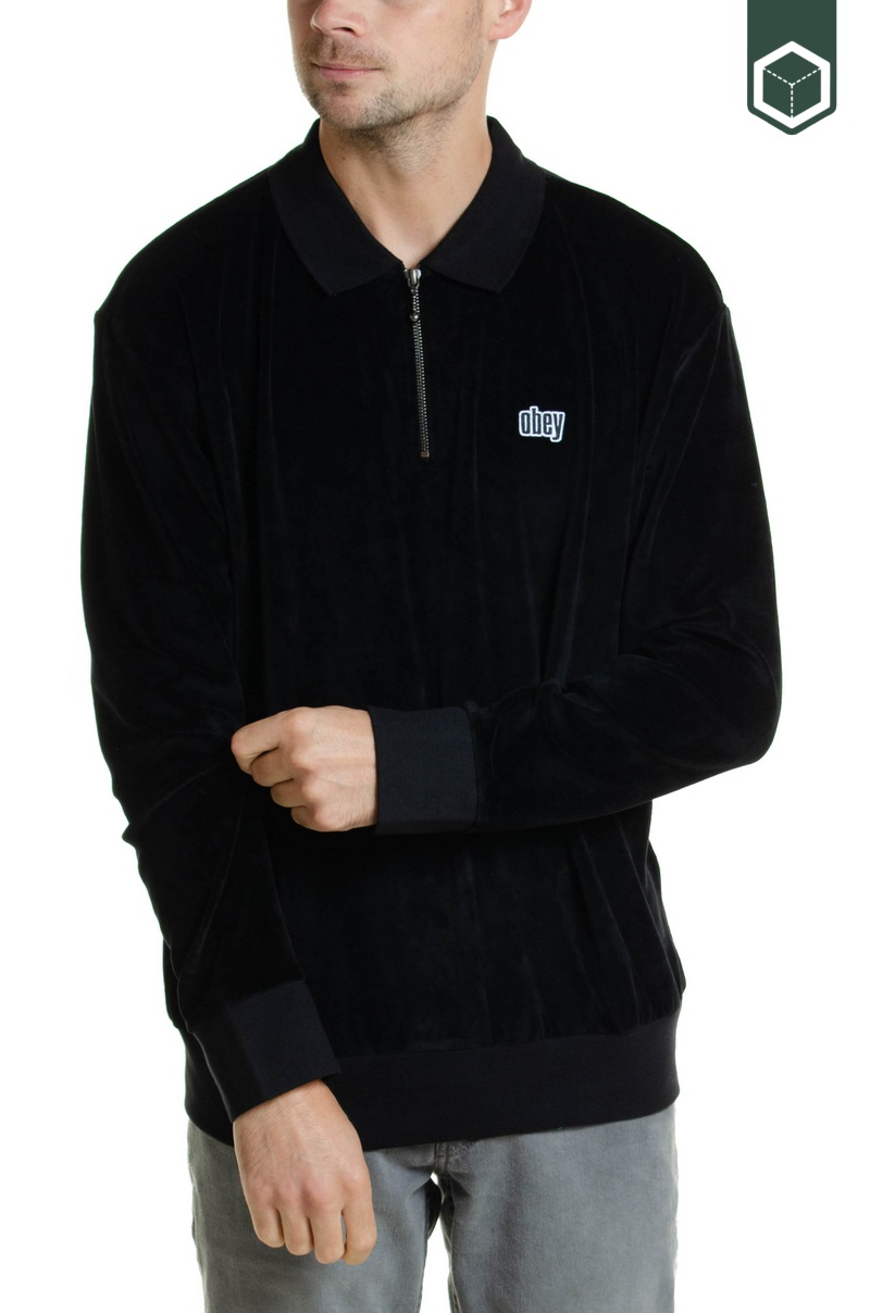 Obey Buster Classic Polo LS