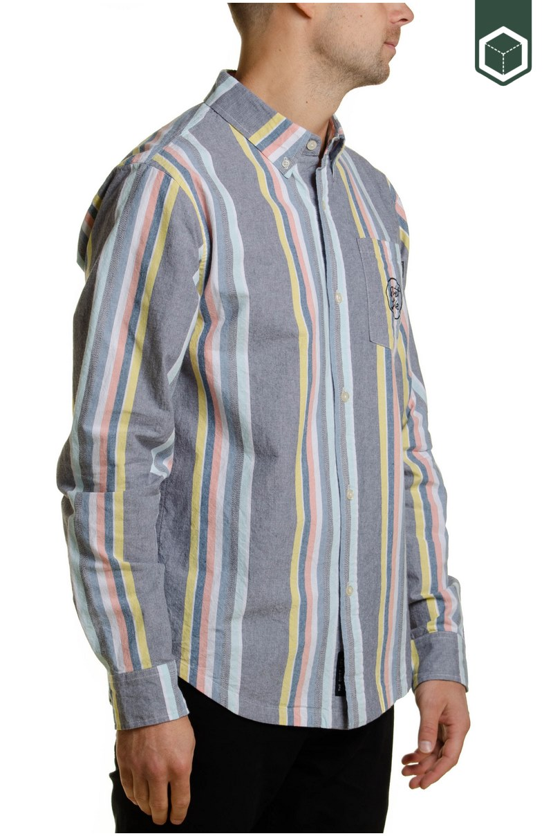 Quiet Life Basel Button Down Long Sleeve Stripe