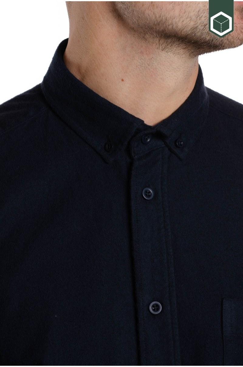 Klitmoller Collective Benjamin-Flannel Navy