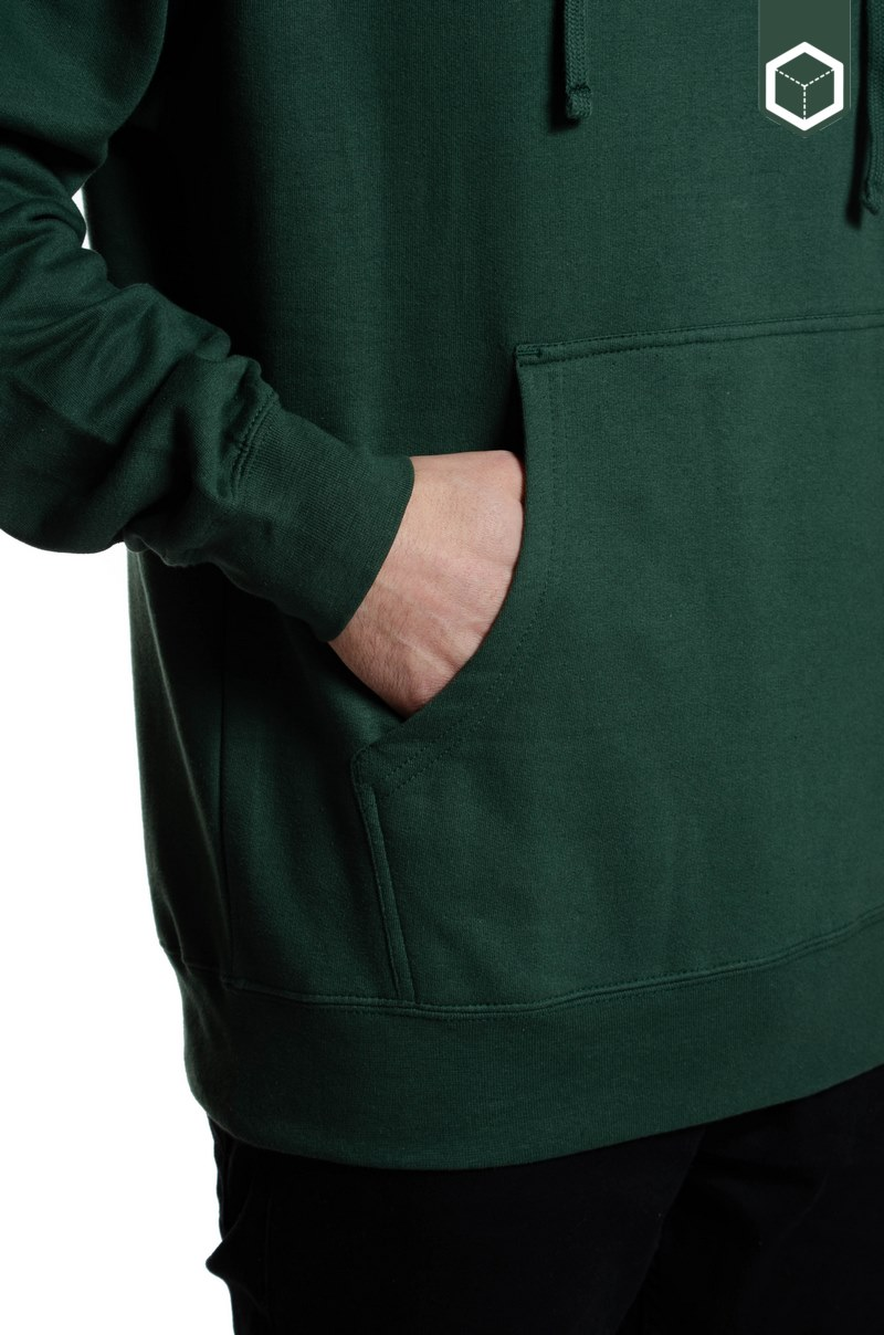 Quiet Life Embroidered Origin Hood Hunter Green