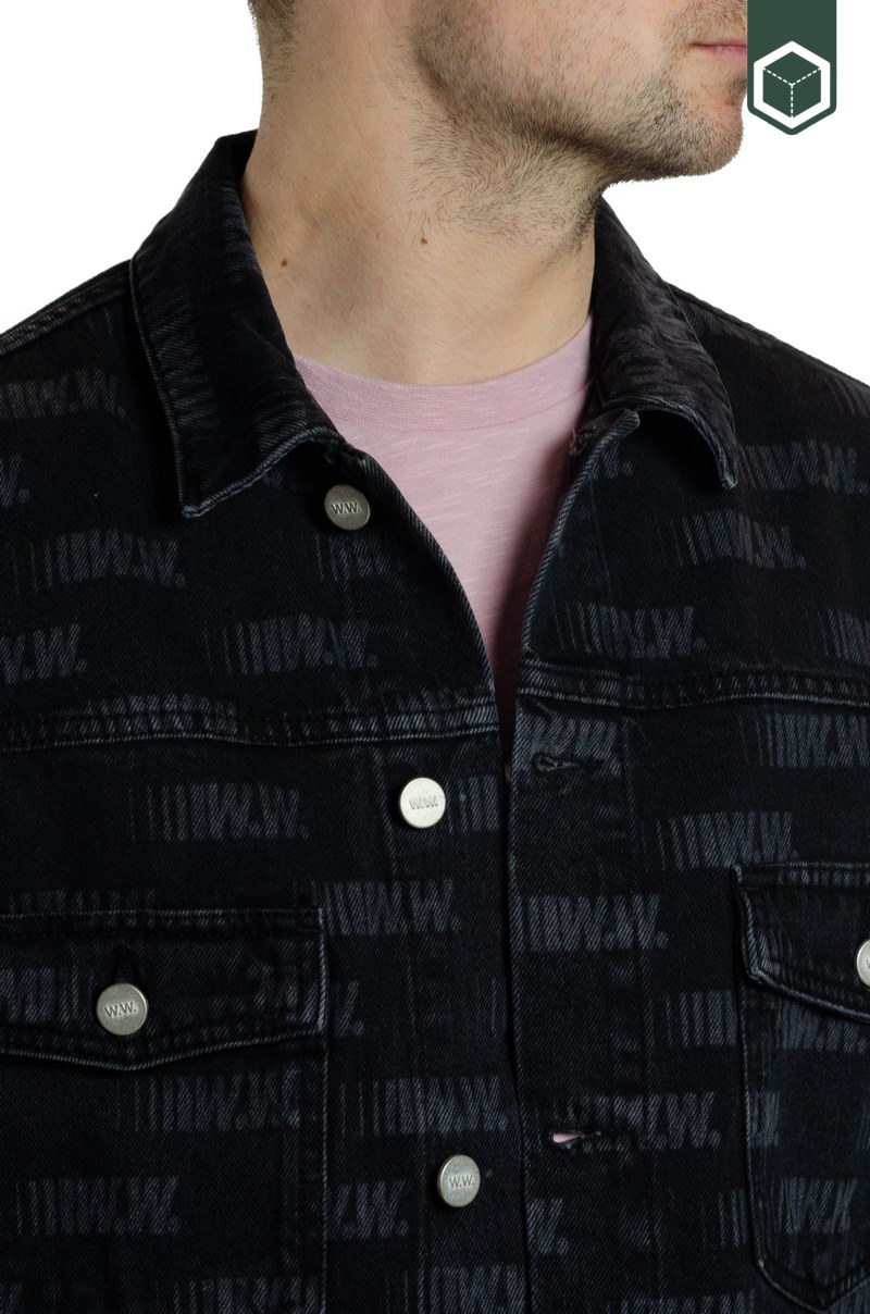 Wood Wood Cam Jacket Black AOP