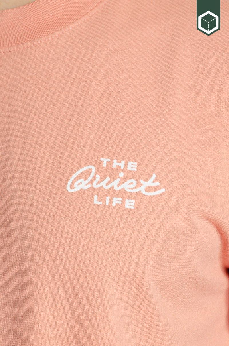 Quiet Life Mechanic Logo Pigment Dyed T Rose