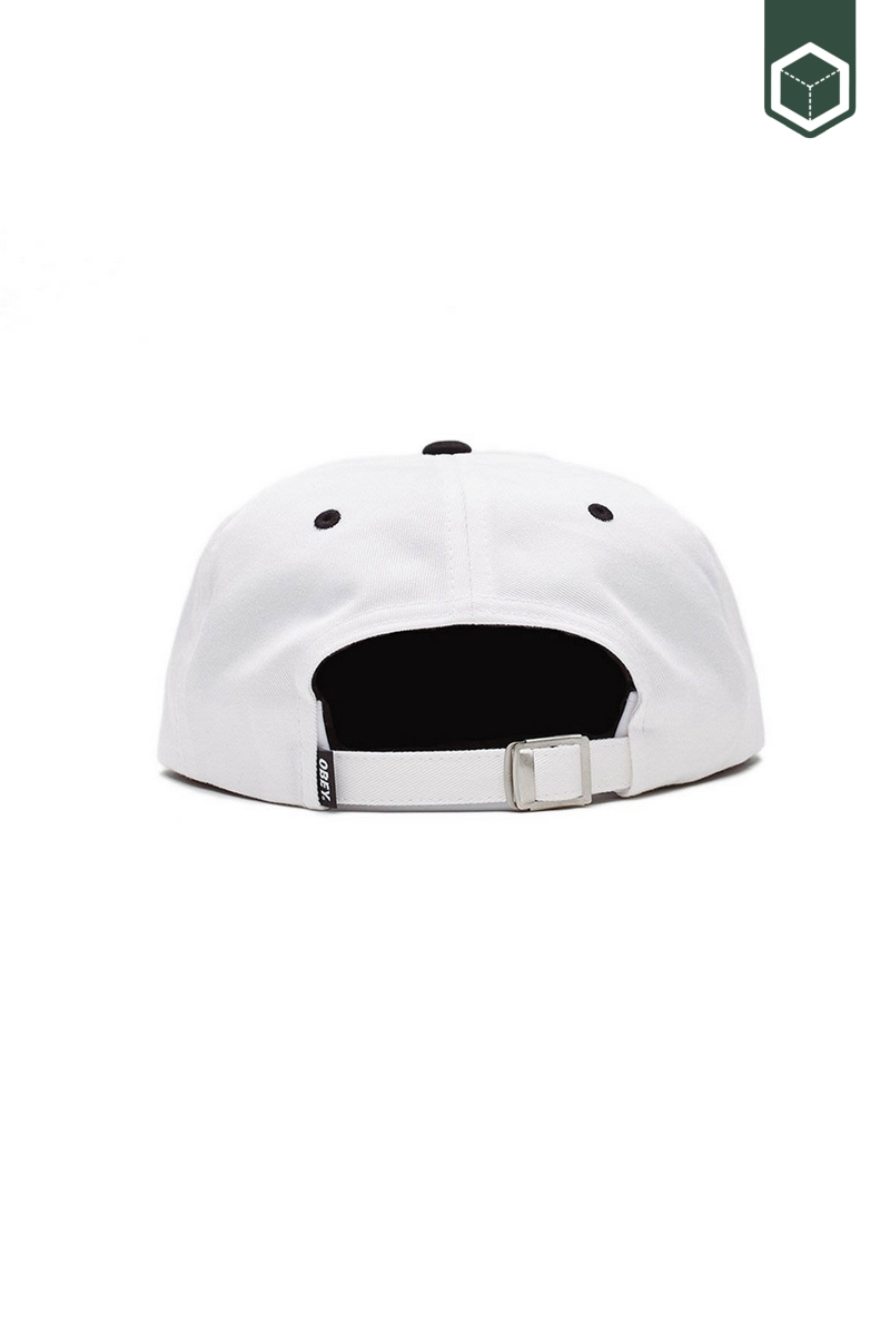 Obey Icon 6 Panel Strapback White Multi