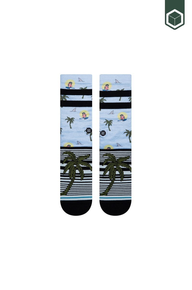 Stance Aloha Monkey ST Light Blue