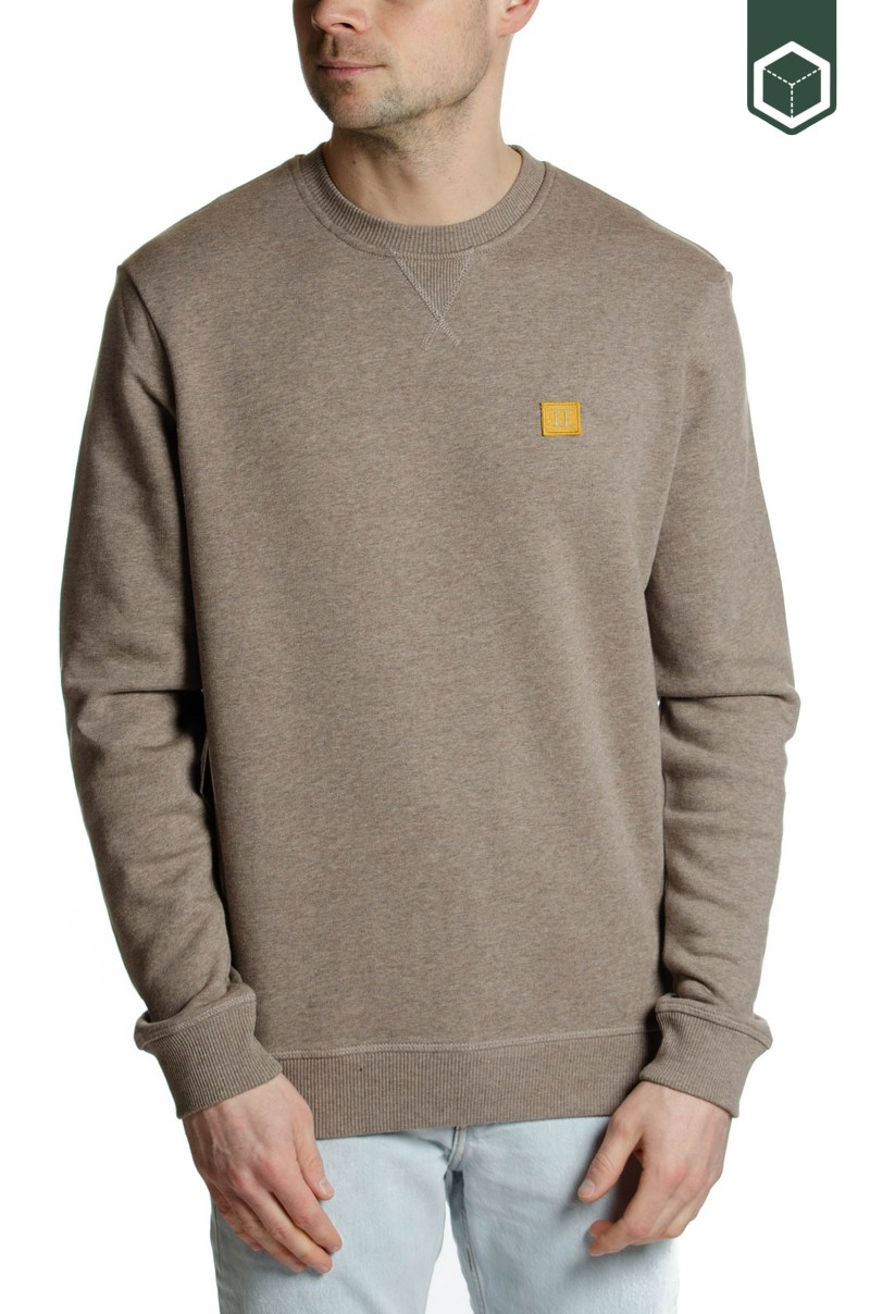 Les Deux Piece Sweatshirt Brown Club Melange