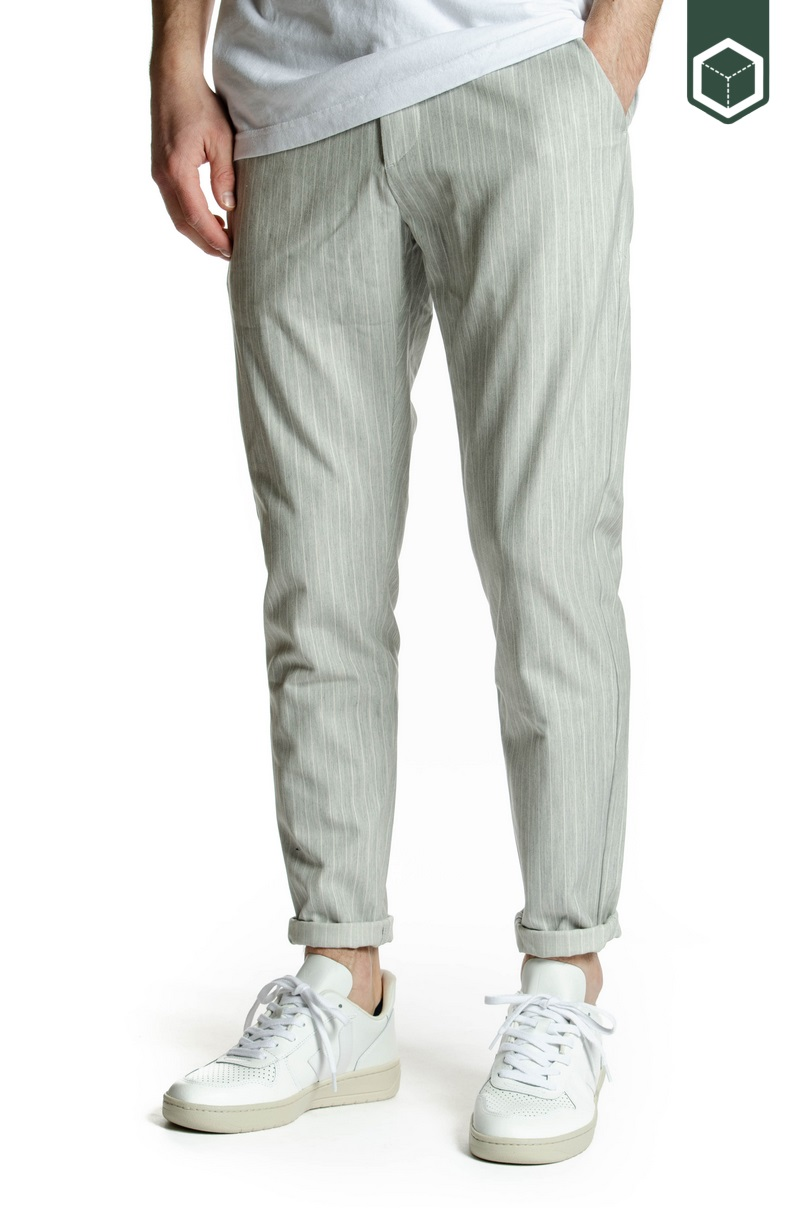 Les Deux Como Light Pinstripe Suit Pants