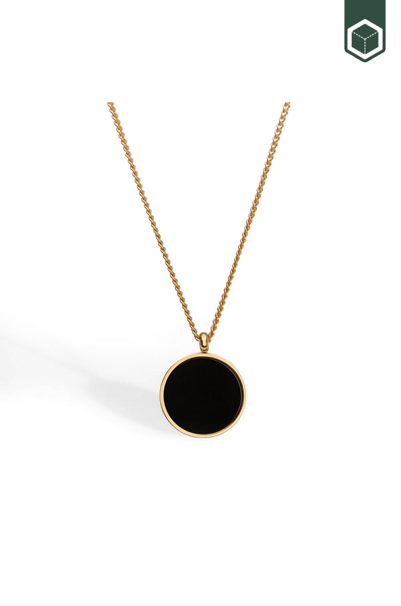 Northern Legacy Black Onyx Pendant Gold
