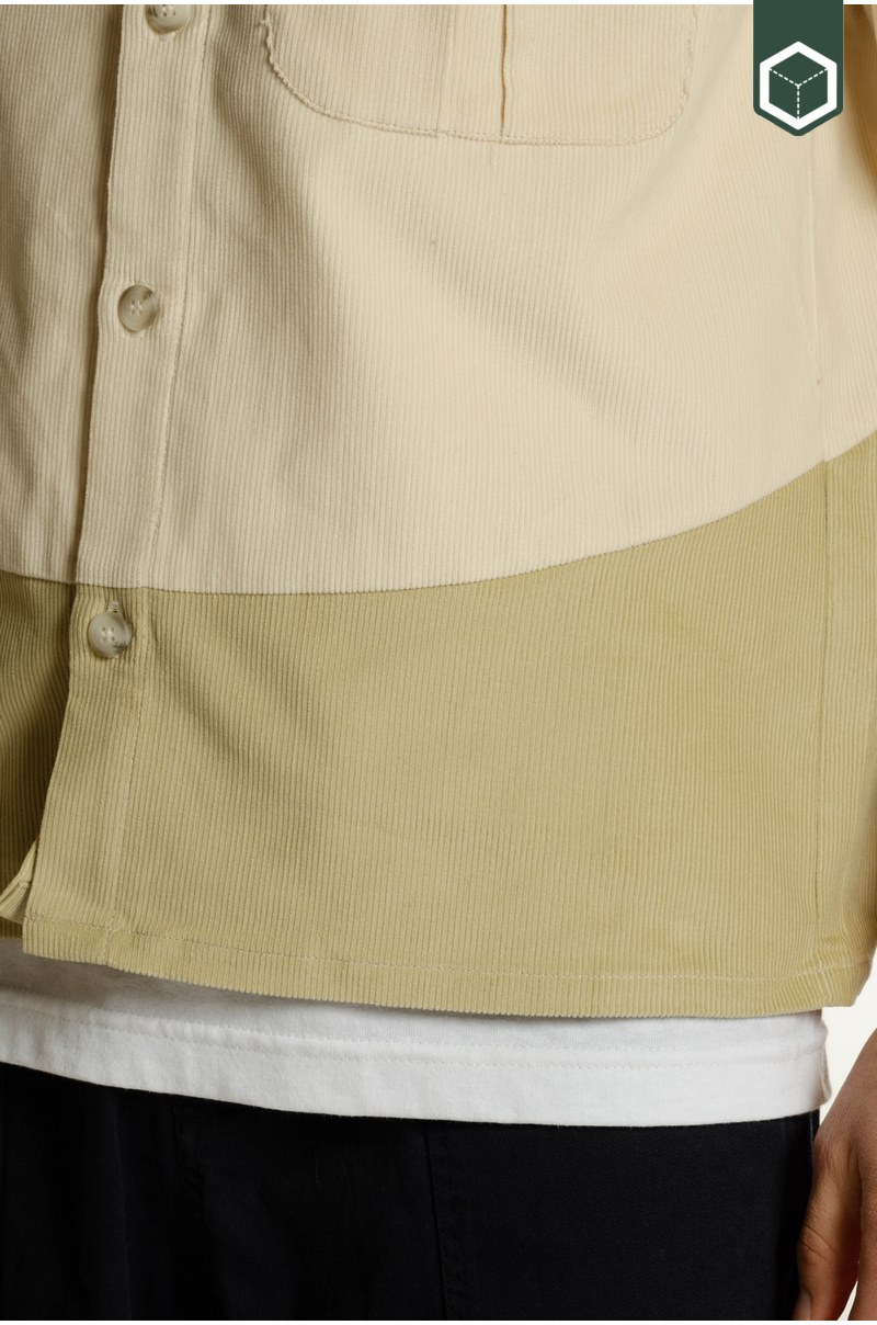 North Hill Short Sleeve Shirt Corduroy Off-White