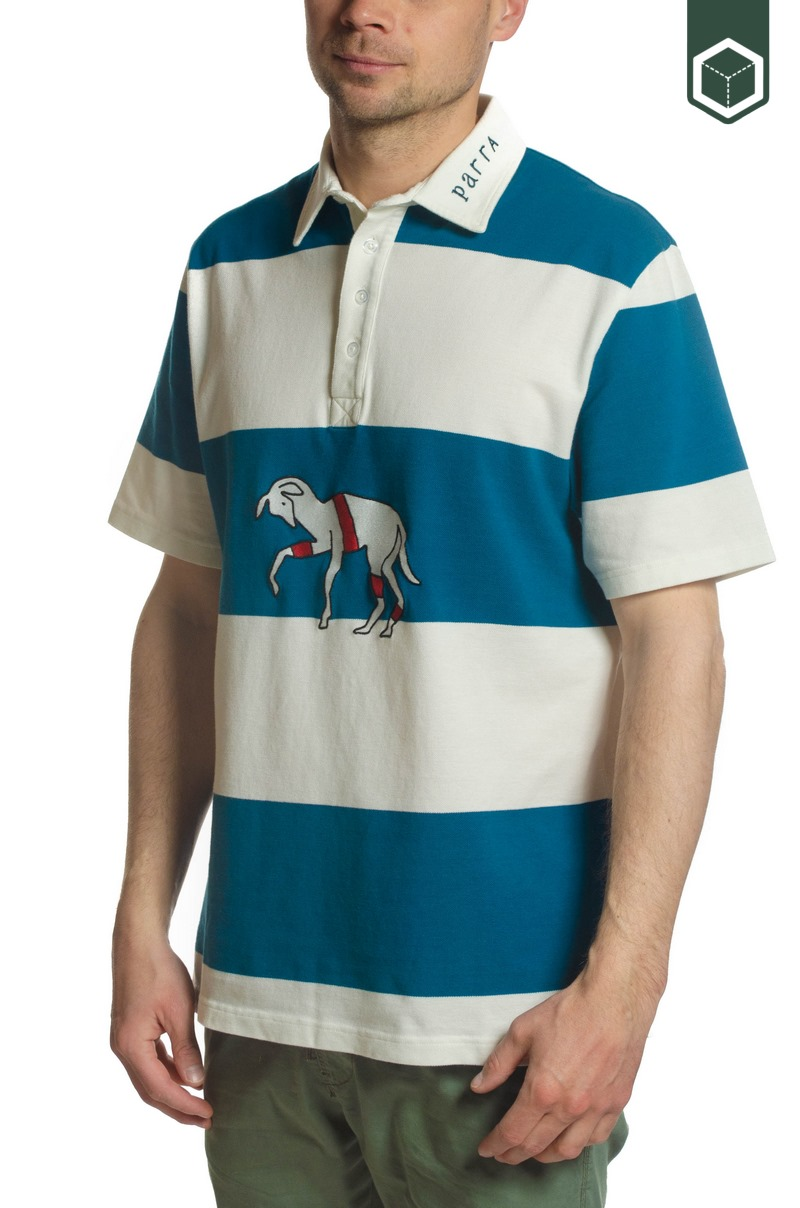 By Parra Striped Goat Polo