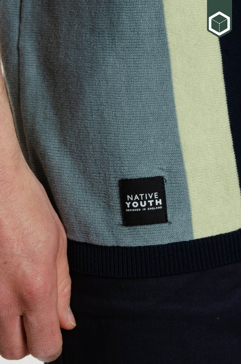 Native Youth Coppie Polo Navy