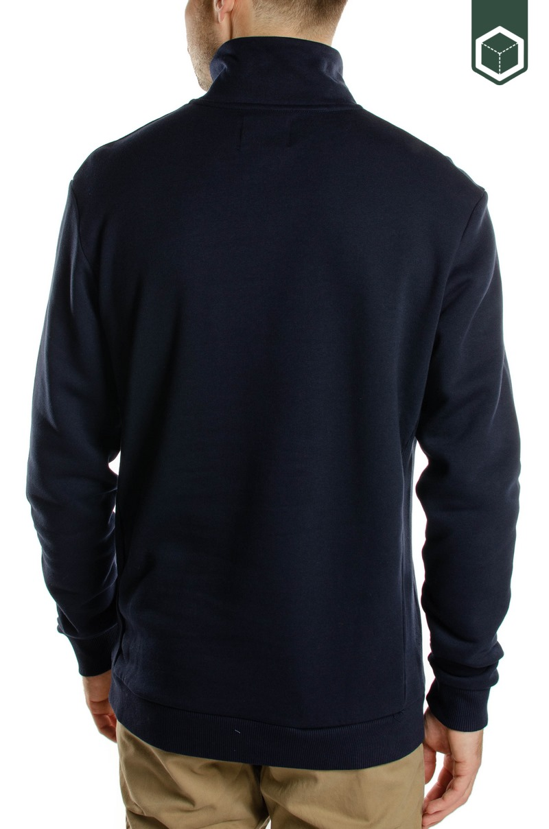 Les Deux Clinton Half Zip Dark Navy/Black