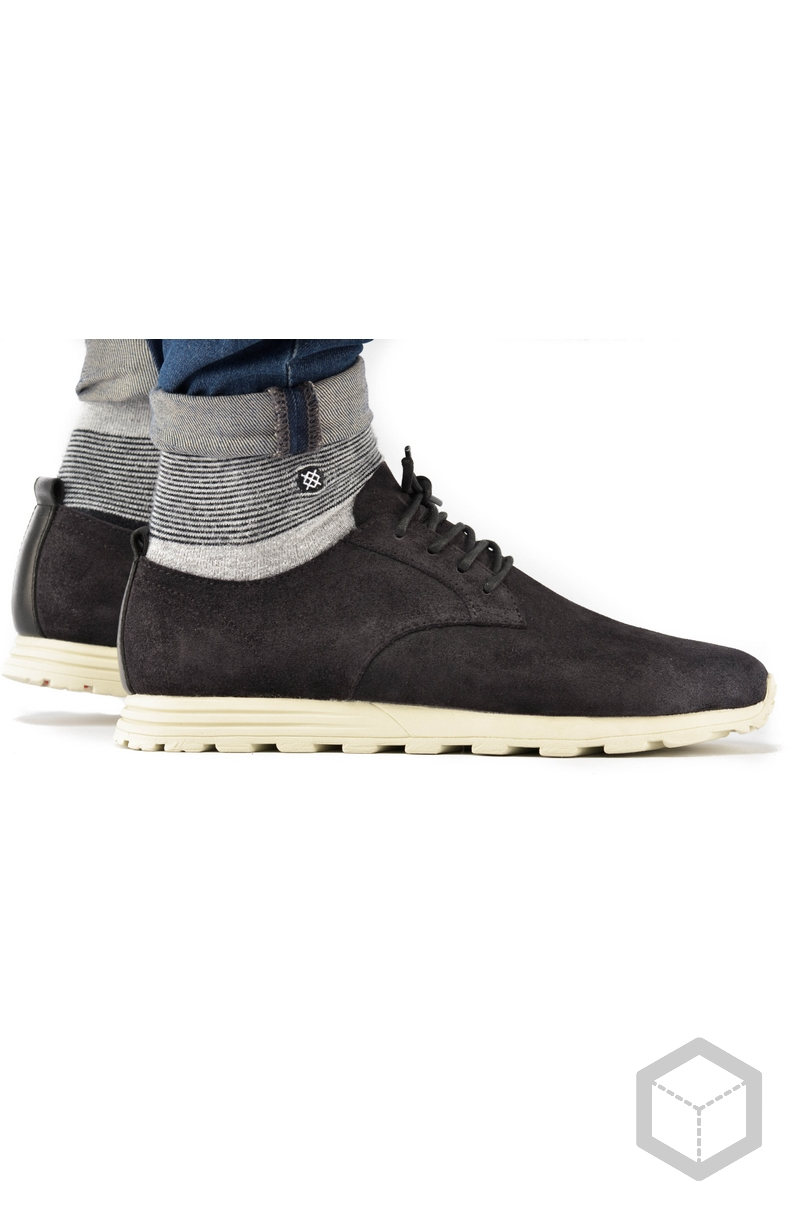 Clae Ellington Runner Black Waxed Suede