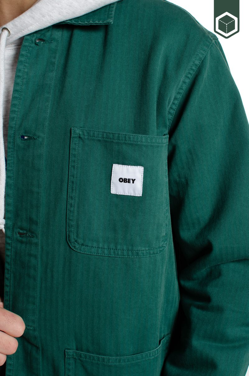 Obey Marshall Jacket Mallard Green