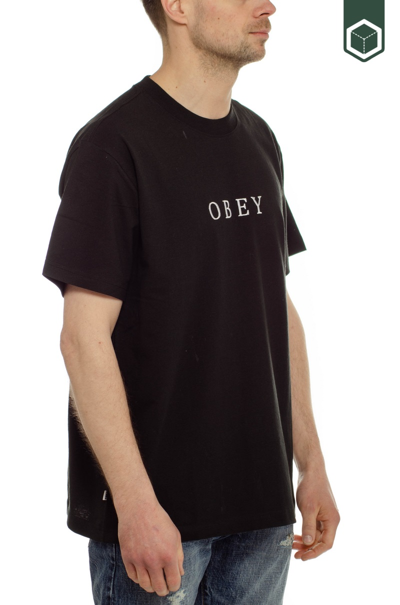 Obey Smith Tee SS Black